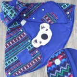 Jual Cuddle Me Baby Cape Jaket Bolak Balik Purple Branded