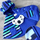 Review Cuddle Me Baby Cape Jaket Bolak Balik Stripe Blue Terbaru
