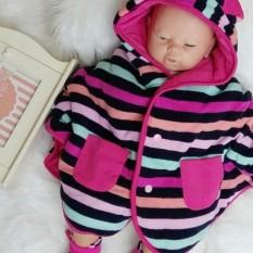 Harga Cuddle Me Cuddleme Baby Cape Jaket Bolak Balik Motif Stripe Pink New