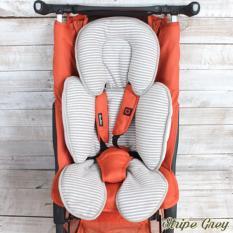 Katalog Cuddle Me Cuddleme Seat Pad Alas Stroller Car Seat Motif Stripe Grey Terbaru