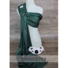 Cuddle Me Gendongan Bayi Air Sling Green Army Cuddle Me Diskon