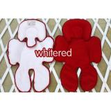 Toko Cuddle Me Seat Pad Alas Stroller Car Seat White Red Cuddle Me