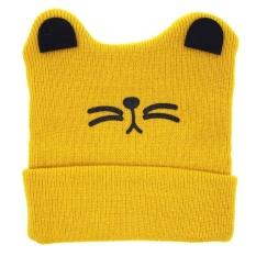 Cute Baby Boys Girls Cat Ear Knit Tetap Hangat Hat YE-Intl