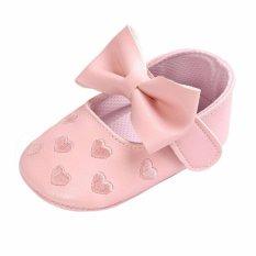Cute Baby Girl Shoes Peach Heart Enbroidery Shose Soft Soled Anti-slip Bayi Shosewear