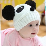Beli Cute Baby Kids Girls Boys Stretchy Warm Winter Panda Cap Hat Beanie Wh Nbsp Intl Baru