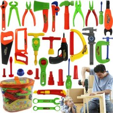 Veli Shy Cute Anak Anak Berpura-Pura Bermain Craftsman Carpentry Repair Mainan Alat Kit Set-Intl By Veli Shy.