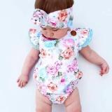 Review Cute Bayi Bayi Perempuan Floral Bodysuit Romper Musim Panas Sunsuit Pakaian Pakaian 24 M 18 24 Bulan Intl Oem Di Tiongkok