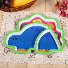 Cute Resin Baby Kids Dishes Feeding Tableware Meja Makan Makanan Tray Plate Dinosaurus-Intl