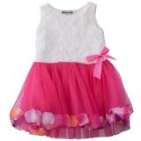 Harga Kerah Bulat Kelopak Warna Warna Warni Tanpa Lengan Lucu Bayi Perempuan Gauze Baju Rompi Internasional Yang Bagus