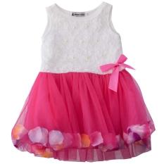 Beli Kerah Bulat Kelopak Warna Warna Warni Tanpa Lengan Lucu Bayi Perempuan Gauze Baju Rompi Internasional Online Terpercaya