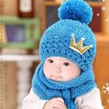 Cute Winter Baby Kids Girls Boys Hangat Wol Coif Hood Scarf Caps Topi Nbsp Intl Tiongkok Diskon