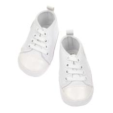 Beli Cyber Bayi Sepatu Cantik Bayi Anak Bayi Balita Lembut Sole Anti Slip Kanvas Berjalan Sepatu Putih Ukuran 12 Baru