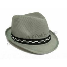 D & D Collection Fedora Hat For Kids / Topi Fedora Jazz Anak Unisex - Abu Muda