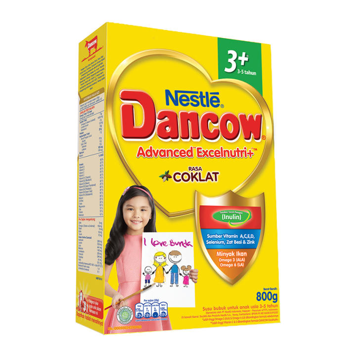 DANCOW ADVANCED EXCELNUTRI 3+ Cokelat Box 800g | Lazada