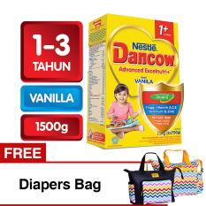 Review Tentang Dancow Advanced Excelnutri 1 Usia1 3 Tahun Vanila 1500Gr Free Diapers Bag