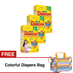 Spesifikasi Dancow Advanced Excelnutri 3 Usia 3 5 Tahun Vanila 800Gr Bundle Isi 3 Box Free Colorful Diapers Bag Dancow Terbaru