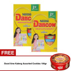 Beli Barang Dancow Advanced Excelnutri 3 Usia 3 5 Tahun Vanila 800Gr Free Good Time Kaleng Assorted Cookies 190Gr Online