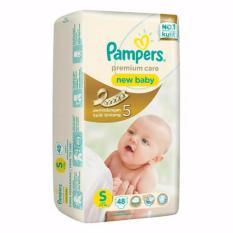 Harga Dapat 2 Pempers Popok Premium Care New Baby Tape S48 Termurah