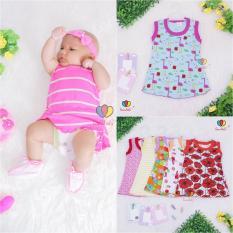 Daster Yukensi Bayi uk 0-12 Bulan Dress Bayi Baju Kaos Daster Edo Meylan Grosir Baju Anak Perempuan