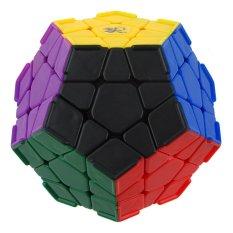 Kualitas Dayan Megaminx I Versi Tanpa Stiker Puzzle Kubus Hitam With Sudut Lengkung Dayan