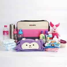 Dayony BB 03 - Tas Bayi Mewah - Baby Bag Diaper BBO BB03 - Pink Muda