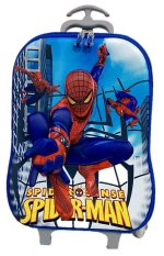 Deerde Trolley 3D Spiderman Lunch Box Pencil Case Blue Original