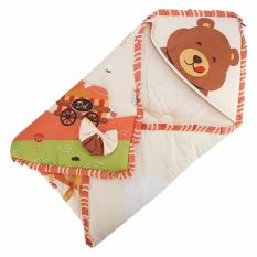 Toko Del Collection Selimut Bayi Baby Blanket Baby Bear Biru Online