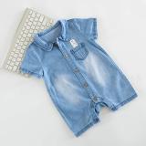 Harga Denim Soft Musim Panas Baju Baju Monyet Bayi Baju Asli