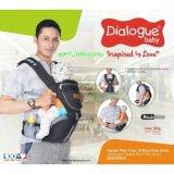 Spesifikasi Dialogue Baby Gendongan Hipseat Dgg 1004 Black Grey Plain Colour Series Lengkap