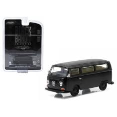 Diecast Greenlight 1968 Volkswagen Type 2 Bus Black Bandit - Da6677 - Original Asli