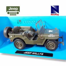 Diecast Jeep Willys Military Newray 1:32 Replika Mobil Miniatur Die Cast