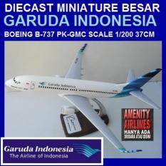 DIECAST MINIATUR PESAWAT GARUDA INDONESIA B-737 SKALA 1/200 - S9egy8