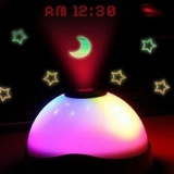 Beli Digital Led Perubahan Warna Magic Flash Light Star Proyeksi Bulan Alarm Clock Intl