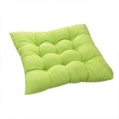 Diotem 11 Warna Solid Cotton Seat Bantalan Kursi Bantal Mat dengan Cord 40*40 Cm untuk Patio Rumah Mobil Sofa Kantor Tatami-Hijau-Intl