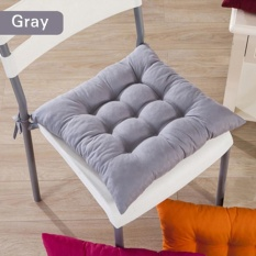 Diotem 11 Colors Solid Cotton Seat Pads Chair Cushion Mat With Cord 40*40CM For Patio Home Car Sofa Office Tatami - Grey - intl