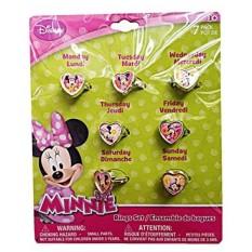 Disney Minnie Mouse 7 Days Heart Shaped Week Rings Set - intl