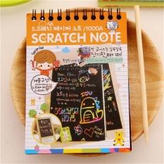 "DIY Cute Kawaii Notebook Hitam Halaman Magic Buku Gambar Lukisan Notepad Bandung Photo: ""-anak Orange-Intl"