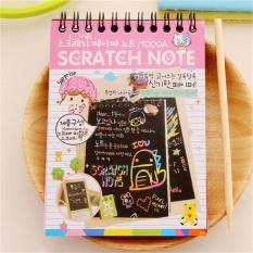 DIY Lucu Kawaii Buku Catatan Hitam Page Sihir Buku Gambar Lukisan Notepad untuk Anak-anak Merah Muda-Internasional