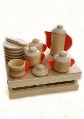 Harga Dnd Mainan Edukatif Edukasi Anak Balok Kayu Tea Set Masak Masakan Dan Spesifikasinya