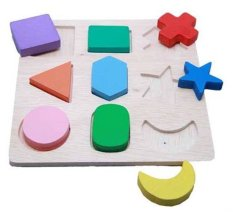 Beli Dnd Mainan Edukatif Edukasi Anak Balok Kayu Puzzle Geo 9 Bentuk Dengan Kartu Kredit