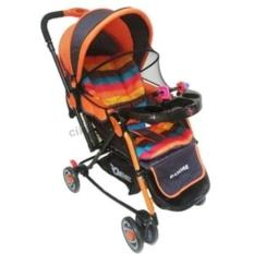 Does Bandre DS-282 - Baby Stroller / Kereta Dorong Bayi 4 in 1 - Orange