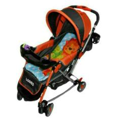 Does Lodeo DS-284 -  Baby Stroller / Kereta Dorong Bayi 3 in 1 - Orange