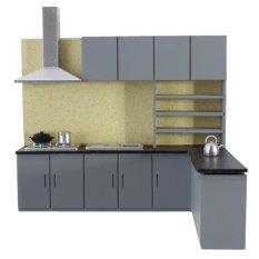 Dollhouse Art Modern Simulation Kitchen Cabinet Set Model Kit Furniture 1:25 - intl