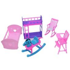 Boneka Aksesoris Berpura-pura Bermain Set Furnitur Mainan untuk Boneka Barbie Sebagai Hadiah Natal untuk