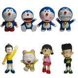 Promo Doraemon And Friends Action Figure 8 Pcs