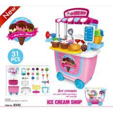 Dream suitcase mainan ice cream set praktis 31 pcs perset + box