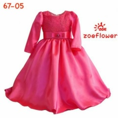 Dress Gamis Zoe Flowers Red /Pink Sz 3-8Th