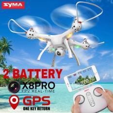 Drone Syma X8 Pro GPS Wifi Fpv Camera HD di Atas Syma X8G X8HG X8SC X8SW Dapet Dua Battery