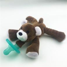 DSstyles 1 Pcs Lucu Silicone Pacifier Plush Animal Toy Boneka Figure Toys Mudah Dibersihkan untuk Menenangkan