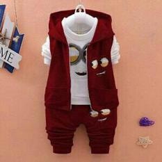 Harga Dubai Clothes Baju Stelan Anak Laki Laki Motif Miniiont 3 5Tahun Dubai Clothes Terbaik